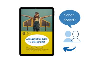 Auf geht's: Projektförderung für 2022 beantragen!